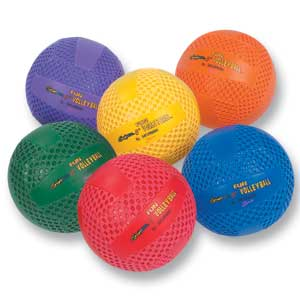 "Fun Gripper-Multi Color Volleyballs-8"" 708"