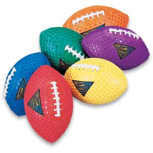 "Fun Gripper-Multi Color Footballs-8.5"" 711"